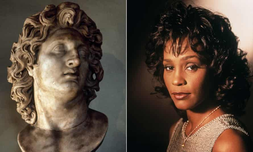 Two of the greats ... Alexander and Whitney Houston