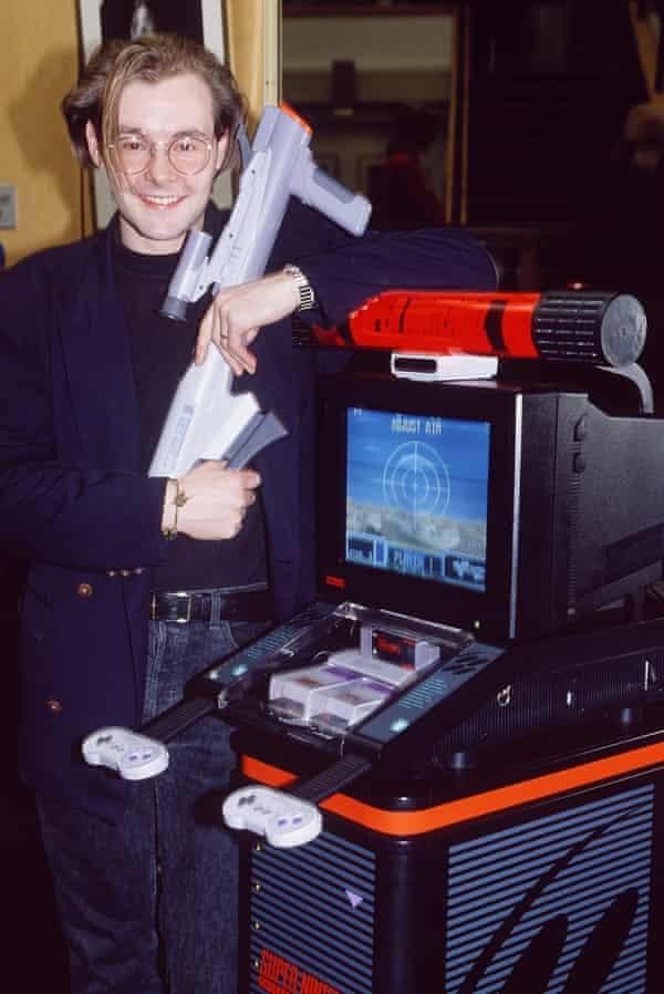 Dominik Diamond ready to test his arcade skills.