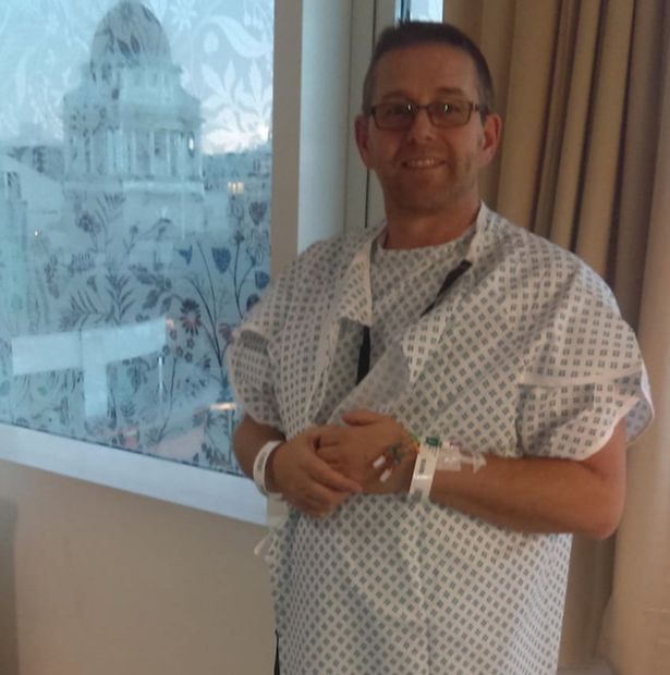 Barry Newman in hospital, where he crossed paths with Nicki after almost 40 years