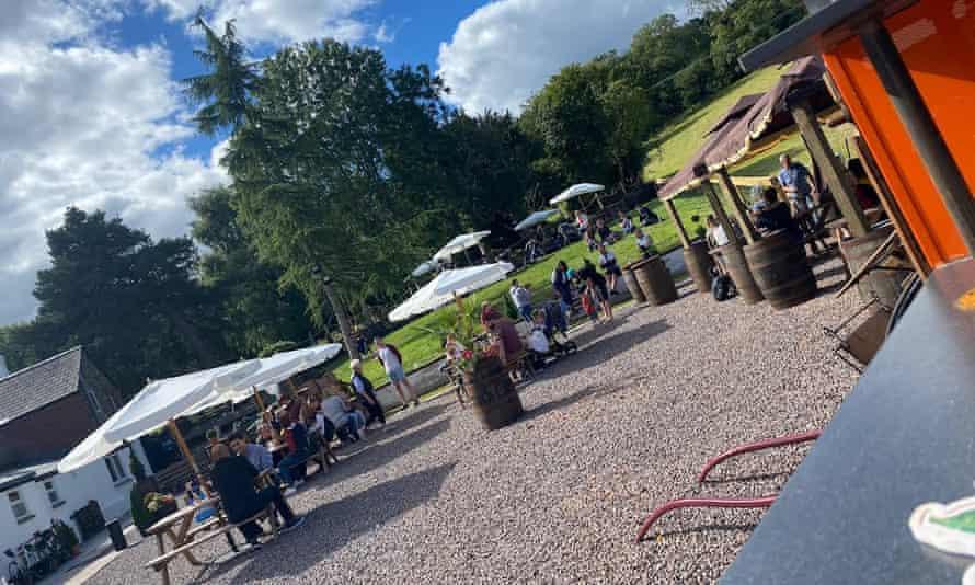 garden of the horse and jockey pub Pontypool