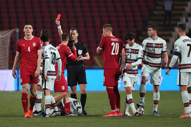 Milenkovic was sent off in Serbia's game against Portugal last week