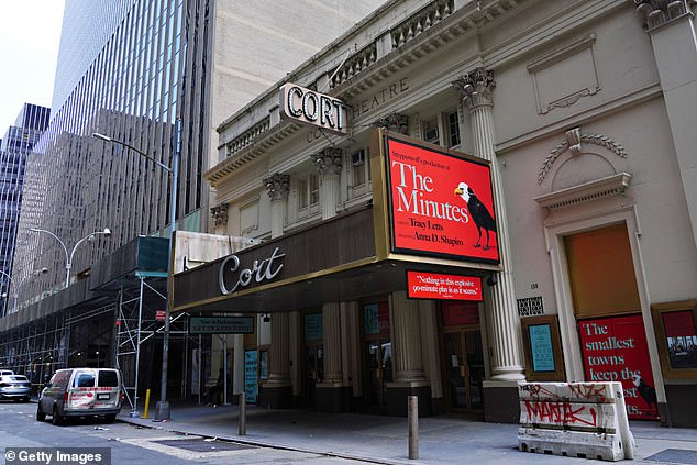 On hold:The play by Tracy Letts was set to debut in March 2020, but the coronavirus pandemic saw the whole of Broadway temporarily shut down