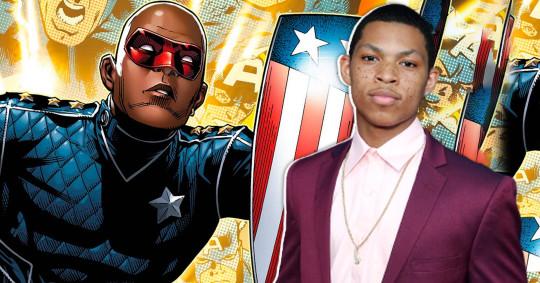 Elijah Richardson and Patriot from Marvel comics