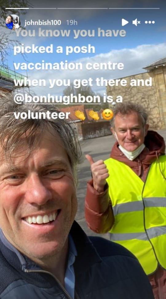 John Bishop and Hugh Bonneville