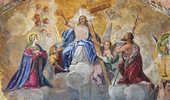 Mosaic in St. Mark Basilica depicting the Ascension of Jesus Christ
