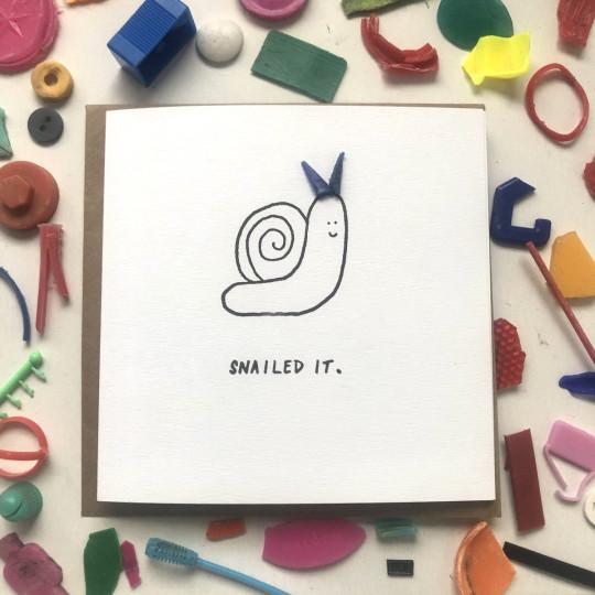 snailed it card