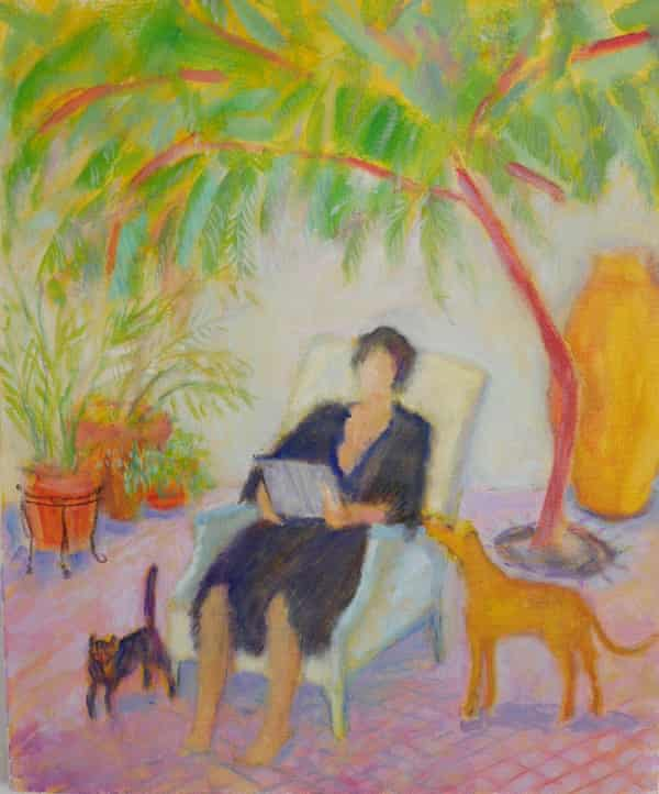 Audrey painted by Fiona Gray