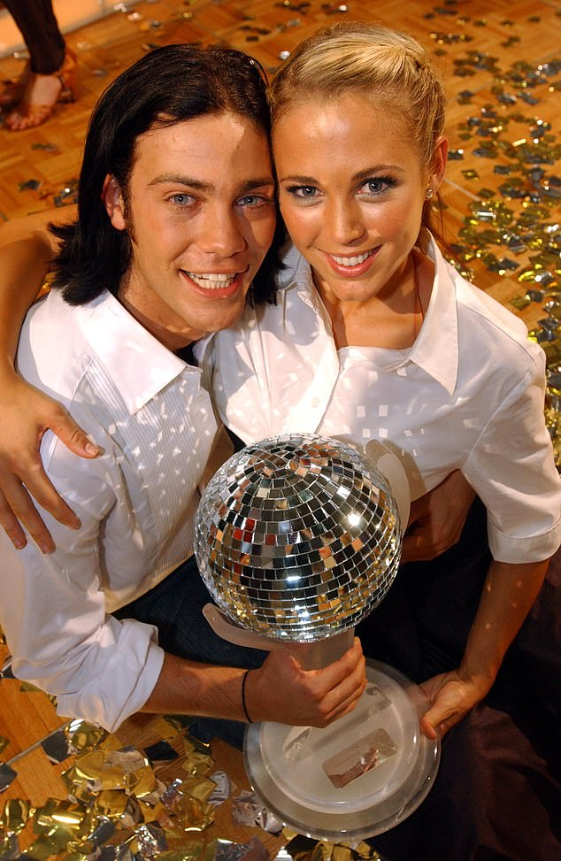 Remember this?Bec previously took out the coveted disco ball trophy in 2004 with dancer Michael Miziner (left) on the celebrity reality TV dancing competition