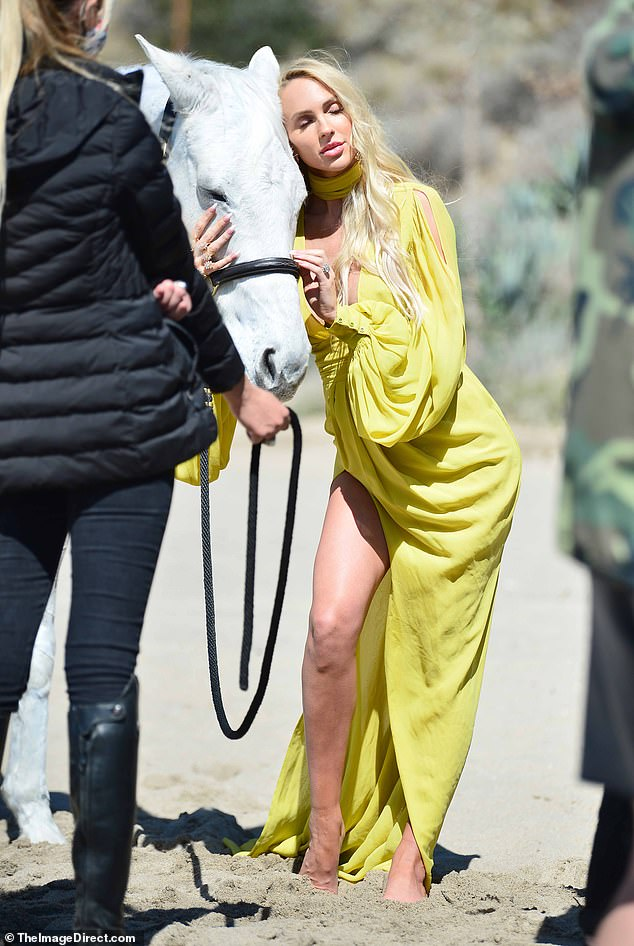 On camera?She recently told OK! magazine watching other reality personalities like Khloe Kardashian and Bling Empire's Cherie Chan give birth on screen 'inspired' her to want to do the same