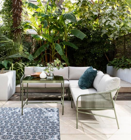 Hosta corner sofa living/dining set