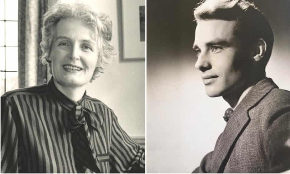 Joan when she was a headteacher and Michael when he was a student at Oxford