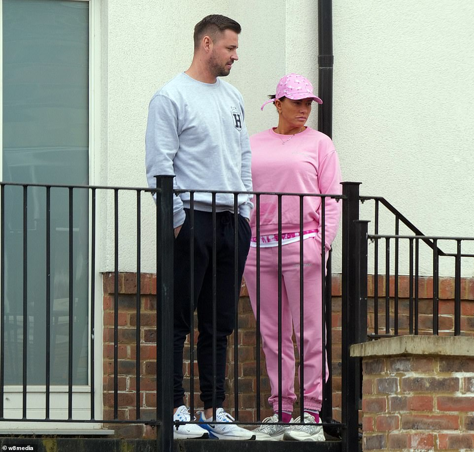 Amazing: The former glamour model, 42, is currently looking to purchase a family home with the former Love Island star, 32, who recently listed his Essex abode for £445,000