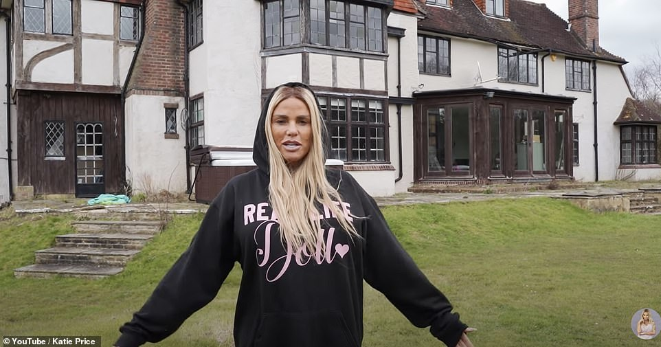 Moving back in? She recently visited her £2million 'mucky mansion' and admitted she was even considering moving back in