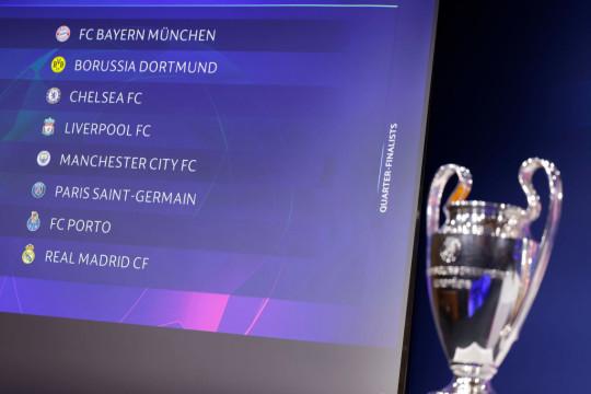 Premier League club Chelsea face Porto in the quarter-finals