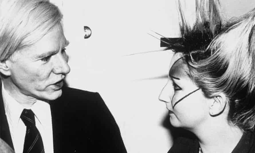 Jordan with Andy Warhol in 1977.