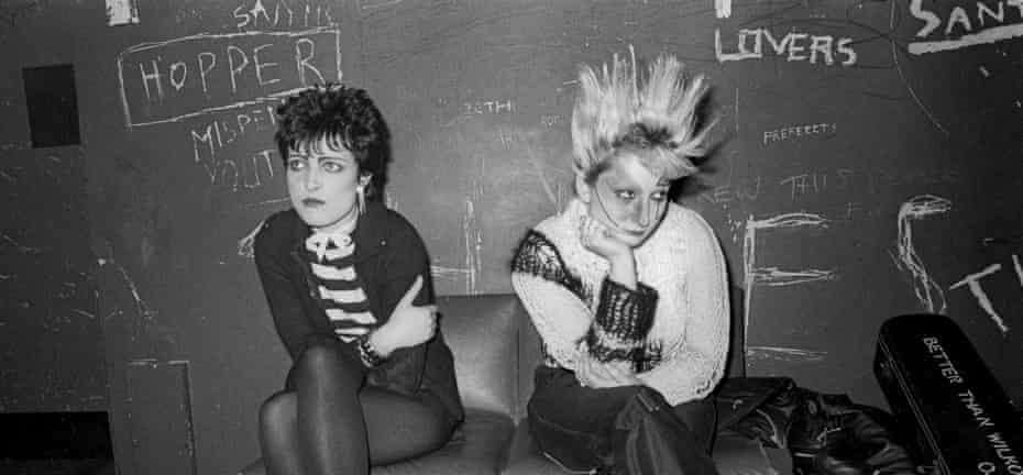 With Siouxsie Sioux in Liverpool c1978.
