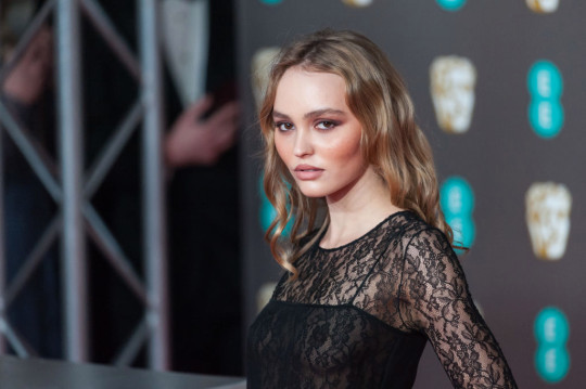 Lily-Rose Depp on the red carpet