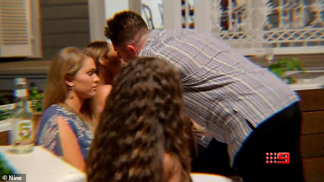 The kiss: During last Tuesday episode, Bryce planted an uninvited kiss on fellow contestant Beck's cheek in an apparent attempt at humour, following weeks of tension