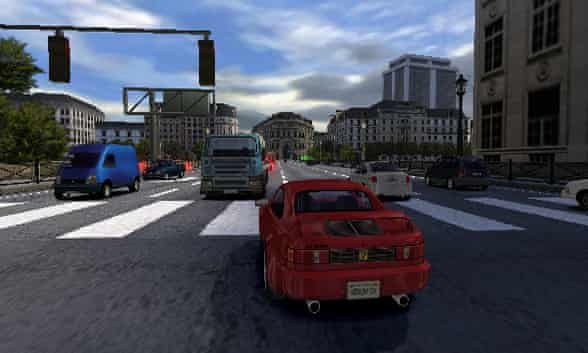 A development version of Burnout for the PS2.