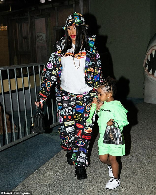 Anything for her mini-me! Grammy-winning rapper Cardi B spent some of her reported $84.5M fortune by spoiling her daughter Kulture with designer accessories on Tuesday (pictured February)