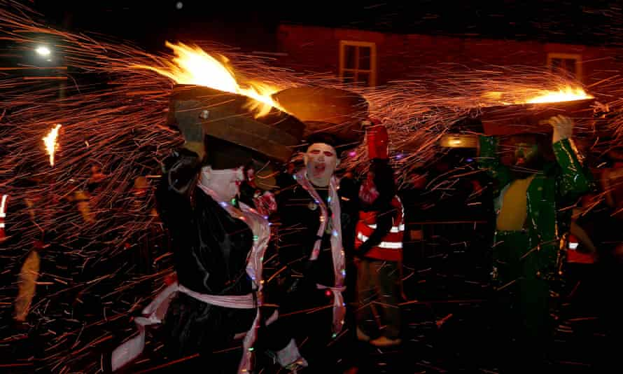 Flaming tar festival, Allendale Town.