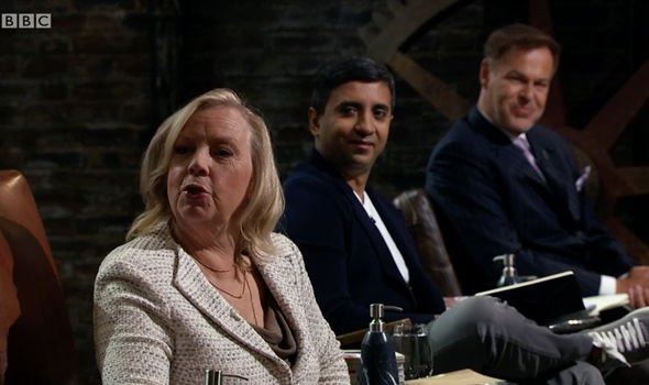 DRAGONS' DEN DEBORAH MEADEN BREXIT EU BBC TV UK
