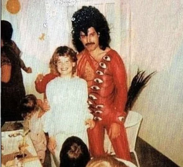 Freddie Mercury at Julian Mack's birthday party