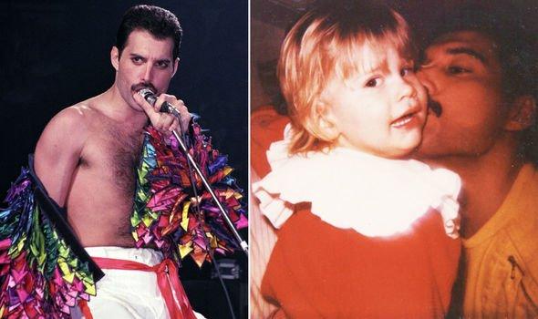 Freddie Mercury with godson Freddie Mack