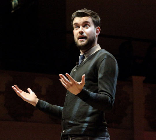 Jack Whitehall doing stand-up comedy