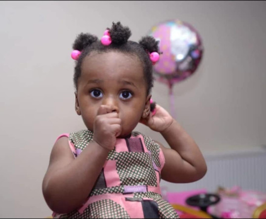 Verphy Kudi's daughter Asiah / A teen mum who left her 20-month-old baby home alone for six days while she celebrated her birthday has been convicted of manslaughter. Verphy Kudi, 18, walked out on baby Asiah on the day she turned 18. She partied for six days while her baby starved to death. CCTV showed she left her Brighton flat on December 5, 2019, her 18th birthday, and did not return until December 11 when she found her baby dead.