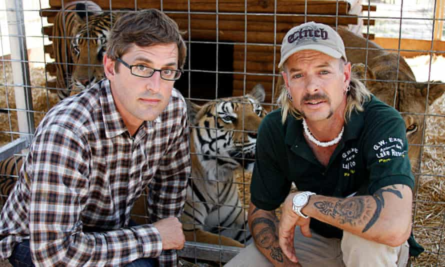 With Joe Exotic in America's Most Dangerous Pets 2011, which Theroux revisited for his latest film, Shooting Joe Exotic.