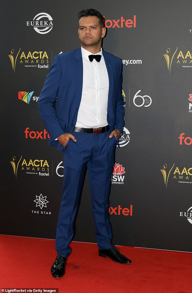 Further claims: Aboriginal actor Meyne Wyatt (pictured) also took to Instagram to claim he 'experienced racism on set' when he was a regular on Neighbours from 2014 to 2016