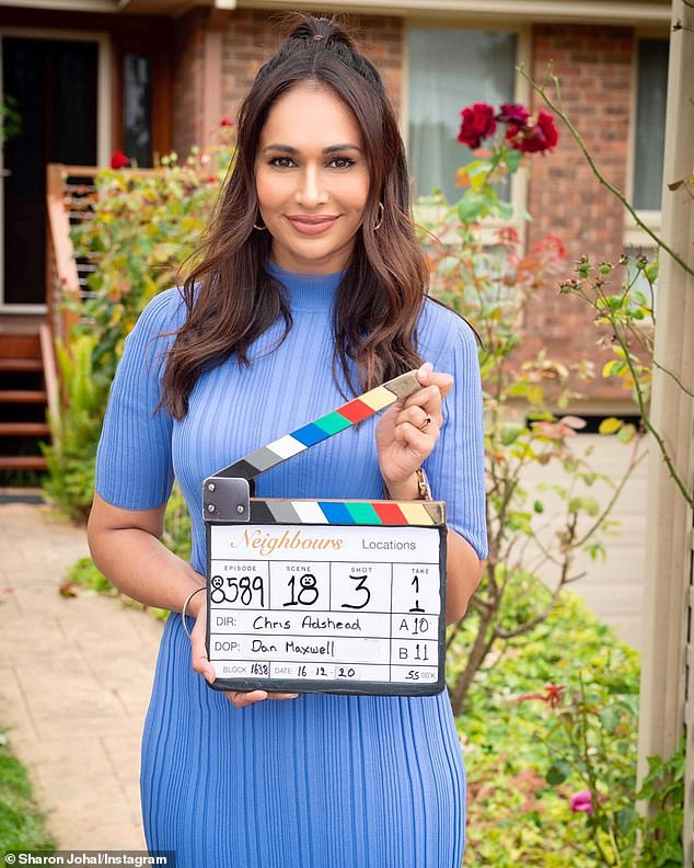 Comment: On Saturday, Former Neighbours star Sharon Johal (pictured) added her voice to the outcry, sharing an Instagram Stories post revealing her mental health has been affected by the backlash