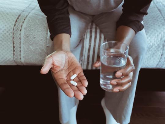 Paracetamol taken with water