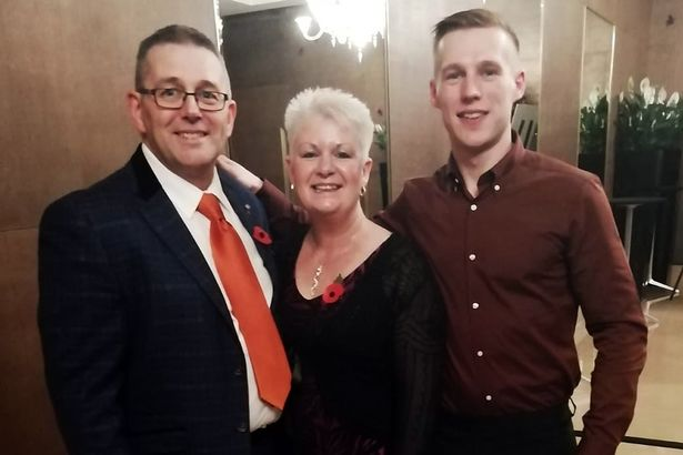 Barry Newman and Nicki Simpson with Barry's son Robert