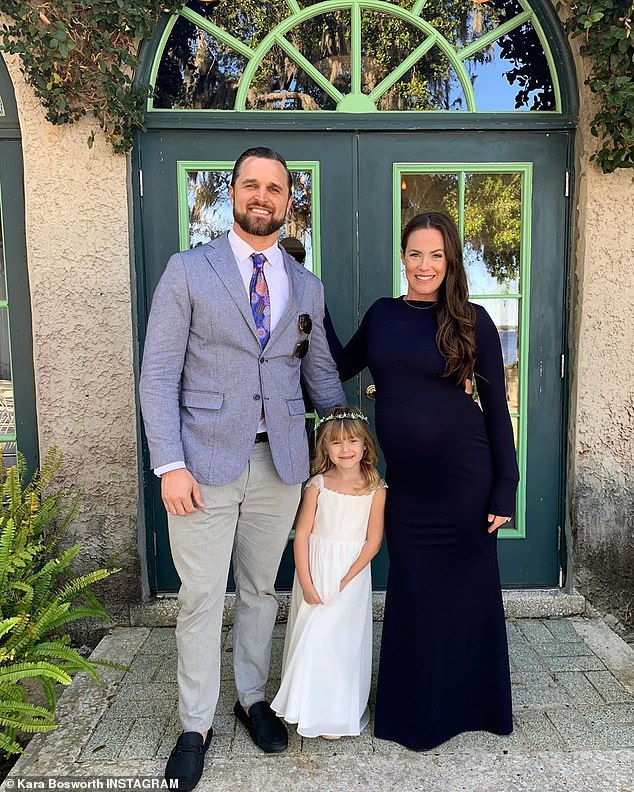Hopeful: The family lost McCoy on account of childbirth complications, with the baby passing days after his birth from 'shoulder dystocia and a compressed umbilical cord'