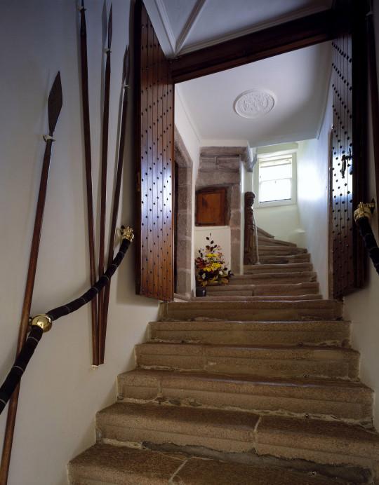 A stairway at Craigievar Castle