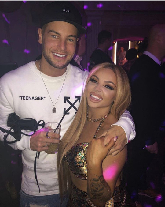 Chris Hughes and Jesy Nelson partying