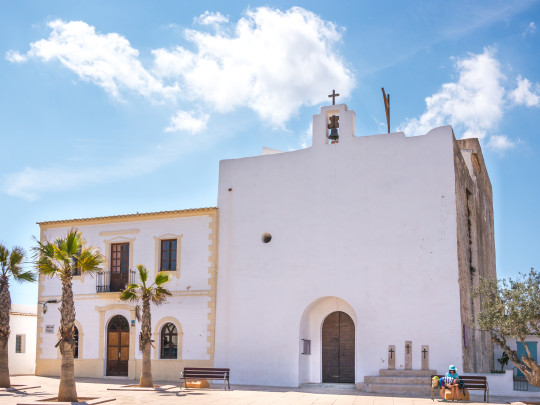 Sant Francesc is the island's capital, where you can see the 18th-century church that was used as a fortress against pirate raids.