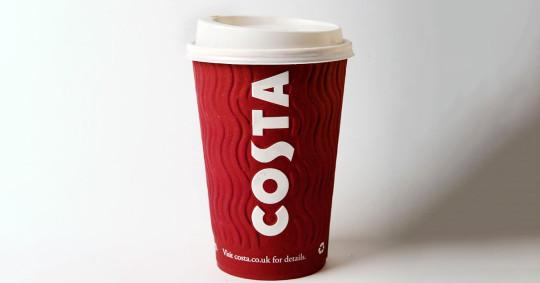 Costa coffee take-away cup