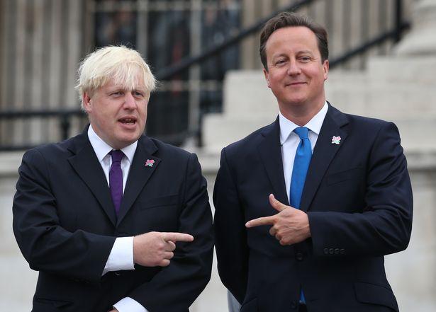 Boris Johnson and David Cameron in 2012, during the London Olympics