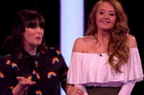 Gemma Warren, right, on Naked Attraction just before she chooses James.