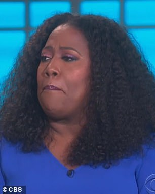 Emotional:Sheryl Underwood held back tears Monday and she claimed she has PTSD after her argument with Sharon Osbourne - as The Talk hosts returned after month-long hiatus on Monday