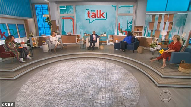 Talking it out:Underwood was joined by remaining co-hosts Carrie Ann Inaba, Amanda Kloots and former Teen Vogue editor Elaine Welteroth