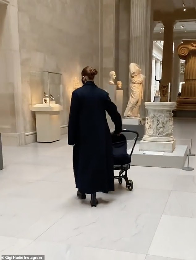Culture: It was clear Gigi was raising her little girl to be a true New Yorker, sharing video from a family trip to the Metropolitan Museum Of Art with dad Mohamed Hadid