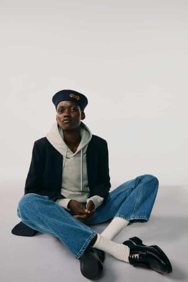 Jeans and a beret from Matchesfashion, styled by Morgan Pilcher.
