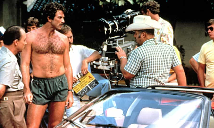 Tom Selleck in teeny shorts.