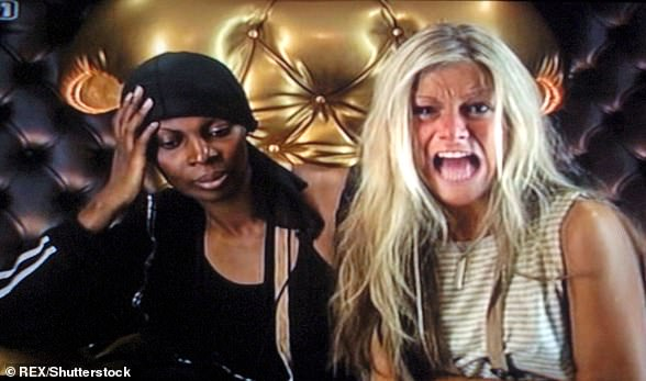 Memorable: Nikki was accompanied by housemateDawn Blake to the diary room when she launched into a meltdown over bottled water