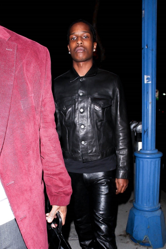 A$AP Rocky leaving restaurant after partying with Rihanna