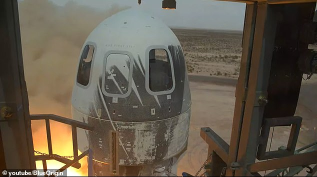The rocket took off without humans seated in the capsule ¿ the only capsule was a test dummy named Mannequin Skywalker